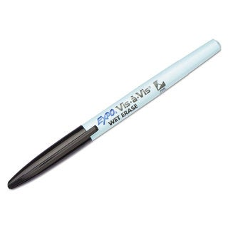 EXPO Vis-a-Vis Wet-Erase Marker Fine Point Black (Box of 12)