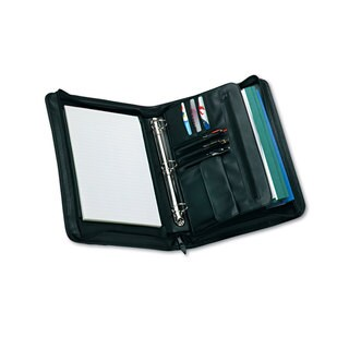 Universal Zip-Around Padfolio Vinyl 14-1/2 x 2-3/4 x 11-1/2 Black
