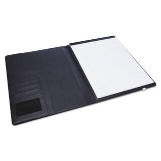 Universal One Padfolio 8 1/2 x 11 Vinyl Black
