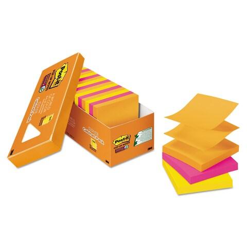 Post-it Pop-up Notes Super Sticky Pop-up 3 x 3 Note Refill Rio de Janeiro 90-Sheet (Box of 18)