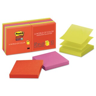 Post-it Pop-up Notes Super Sticky Pop-up 3 x 3 Note Refill Marrakesh 90-Sheet (Box of 10)