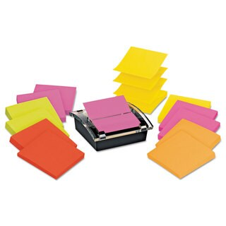 Post-it Pop-up Notes Super Sticky Pop-up Dispenser Value Pack 3 x 3 Black/Clear