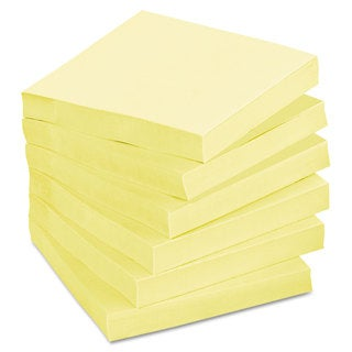 Post-it Notes Greener Original Recycled Note Pads 3 x 3 Canary Yellow 100-Sheet (Box of 12)