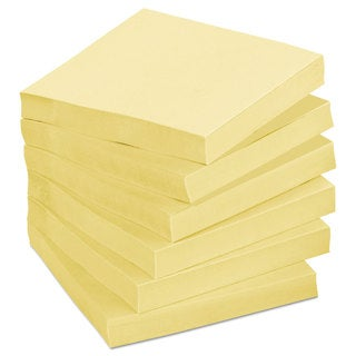 Post-it Notes Greener Note Pad Cabinet Pack 3 x 3 Canary Yellow 75-Sheet (Box of 24)
