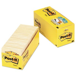Post-it Notes Original Pads in Canary Yellow Cabinet Pack 3 x 3 90-Sheet 18/Pack