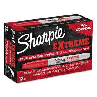 Sharpie Extreme Marker Fine Point Red (Box of 12)