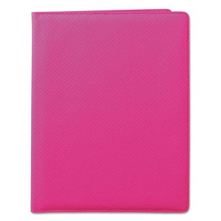 Samsill Fashion Padfolio 8 1/2 x 11 Pink PVC