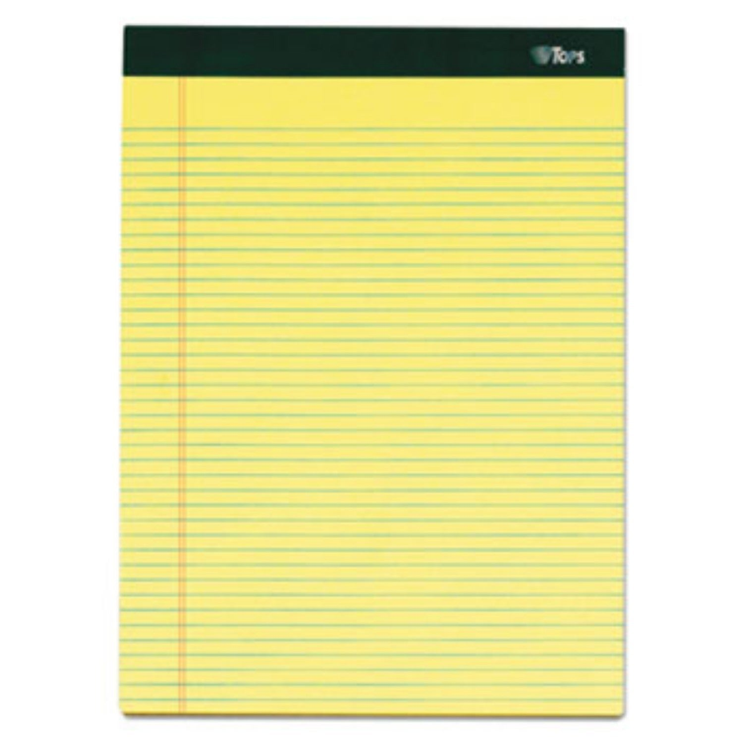 Tops Double Docket Ruled Pads 8 1/2 x 11 3/4 Canary 100 S...