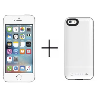 Apple iPhone 5s 16GB Unlocked GSM 4G LTE Phone - Silver (Certified Refurbished)+ Mophie Juice Pack Air for iPhone 2106 (White)