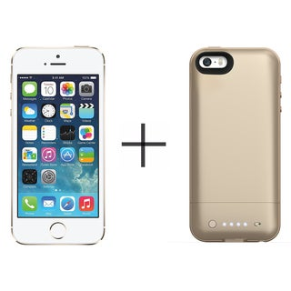 Apple iPhone 5s 16GB Unlocked GSM 4G LTE Phone - Gold (Certified Refurbished)+ Mophie Juice Pack Air for iPhone 2108 (Gold)