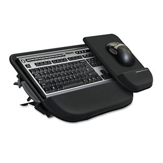 Fellowes Tilt 'n Slide Keyboard Manager with Comfort Glide 19-1/2-inch wide x 11-1/2-inch deep Black