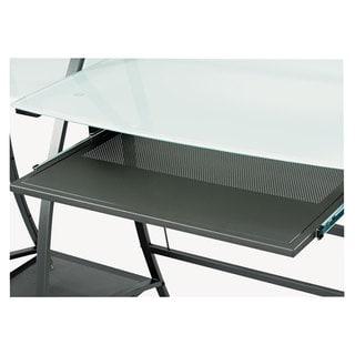 Safco x pressions Keyboard Tray Steel 23-1/2-inch wide x 15-1/4-inch deep Black