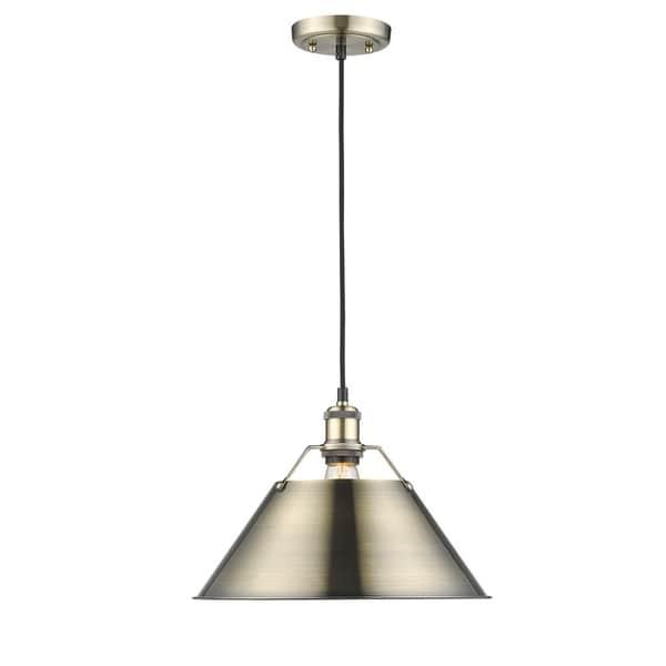 Orwell AB 1 Light Pendant Aged Brass Shade