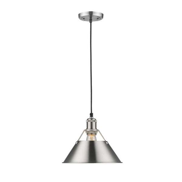 Golden Lighting Orwell PW Pewter/Pewter Shade 10-inch 1-light Pendant