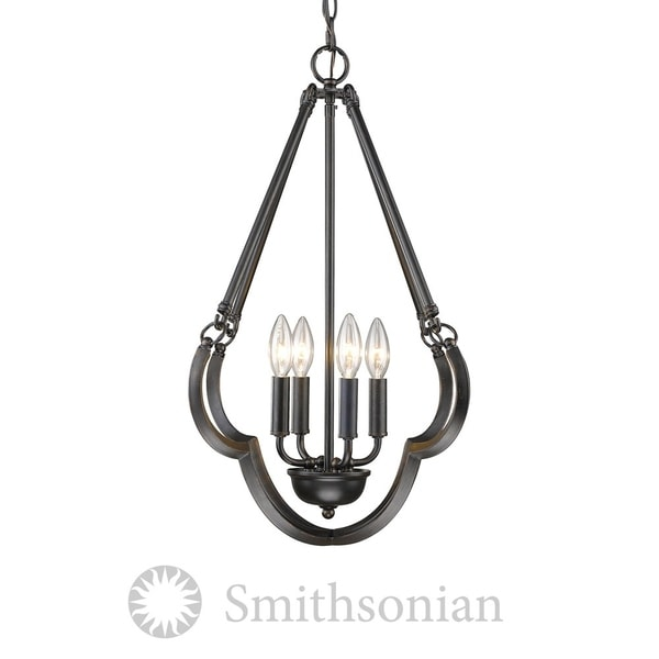 Golden Lighting Saxon Aged Bronze 4-light Pendant