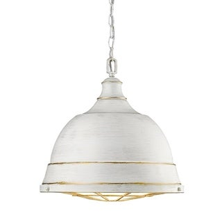 Golden Lighting Bartlett French White Steel Large Pendant Light
