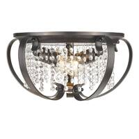 Golden Lighting Ella Etruscan Bronze Flush-mount 2-light Fixture