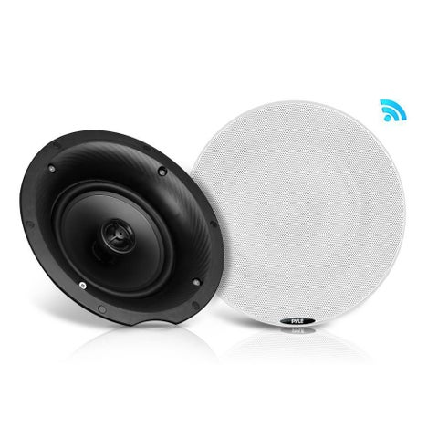 Pyle PDICBT57 5.25-inch 240-watt Dual Bluetooth Ceiling/Wall Speaker Kit With 2 Flush-mount 2-way Speakers
