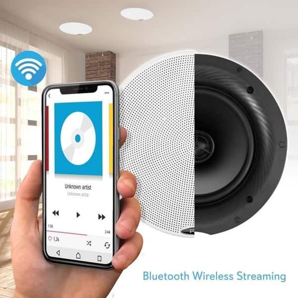 Shop Pyle PDICBT57 5 25-inch 240-watt Dual Bluetooth Ceiling