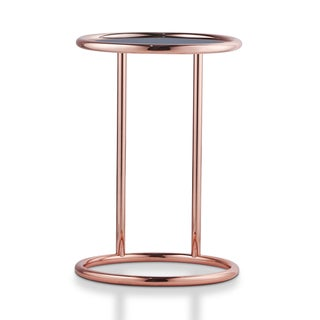 Furniture of America Cara Contemporary Round 1-shelf Metal End Table