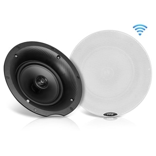 Pyle PDICBT67 6.5-inch 300-watt Dual Bluetooth Ceiling/Wall Speaker Kit With 2 Flush-mount 2-way Speakers
