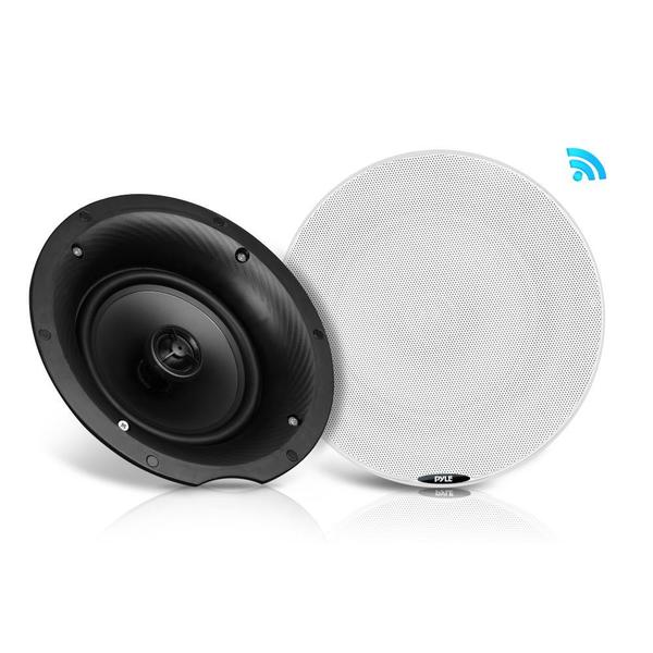Pyle PDICBT87 Dual 8.0-inch Bluetooth Flush-mount 2-way Speakers 400-watt Ceiling / Wall Speaker Kit