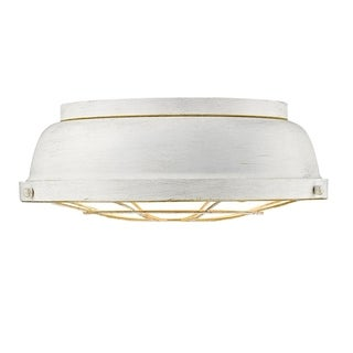 Bartlett French White Steel Flush Mount Light