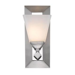 Golden Lighting Gentry 1-light Pewter Bath Vanity with Opal Glass