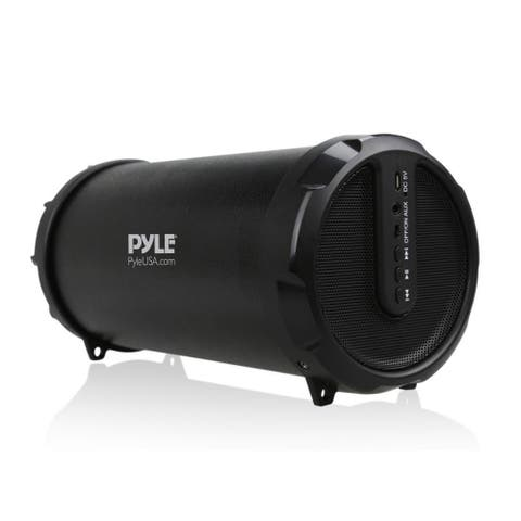 Pyle PBMSPG7 Portable Bluetooth Wireless BoomBox Stereo System Built in Rechargeable Battery