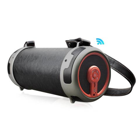 Pyle PBMSPG16 Portable Bluetooth Wireless BoomBox Stereo System Built in Flashing LED Party Lights Rechargeable Battery