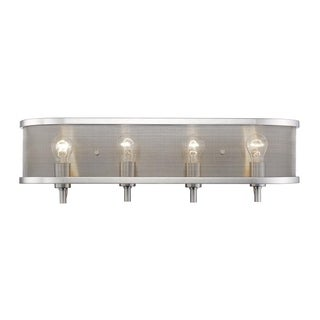 Colson PW 4-light Bath Vanity with Shade in Pewter