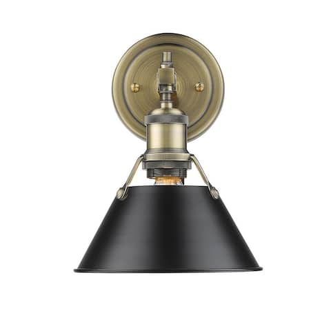 Golden Lighting Orwell 1-light Bath Vanity in Chrome with Pewter (As Is Item)