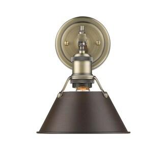 Golden Lighting Orwell AB Aged Brass Rubbed Bronze Shade 1-light Bath Vanity