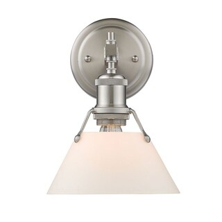 Orwell PW 1 Light Bath Vanity in Pewter with Opal Glass Shade