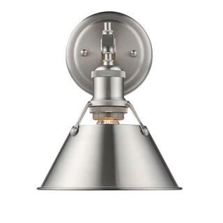 Golden Lighting Orwell Pewter Finish Steel 1-light Bath Vanity Light Fixture