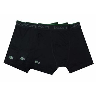 Lacoste Black Cotton 3-pack Boxer Brief