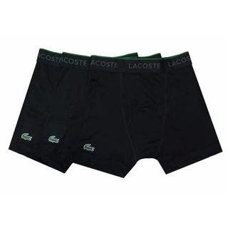 Lacoste Black Cotton 3-pack Boxer Brief|https://ak1.ostkcdn.com/images/products/14075635/P20687290.jpg?impolicy=medium