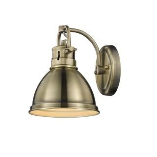 Golden Lighting Duncan Aged Brass Steel 1-light Bath Vanity Light