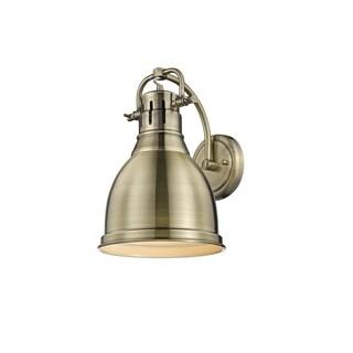 Golden Lighting Duncan Aged Brass 1-light Wall Sconce