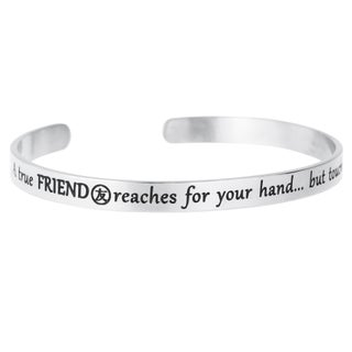 Qina C. A True Friend Reaches for Your Hand but Touches Your Heart Adjustable Cuff Bracelet Wristban (3 options available)