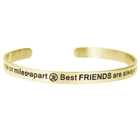 Qina C. 'Side by Side or Miles Apart, Best Friends Are Always Connected by Heart' Adjustable Bracele