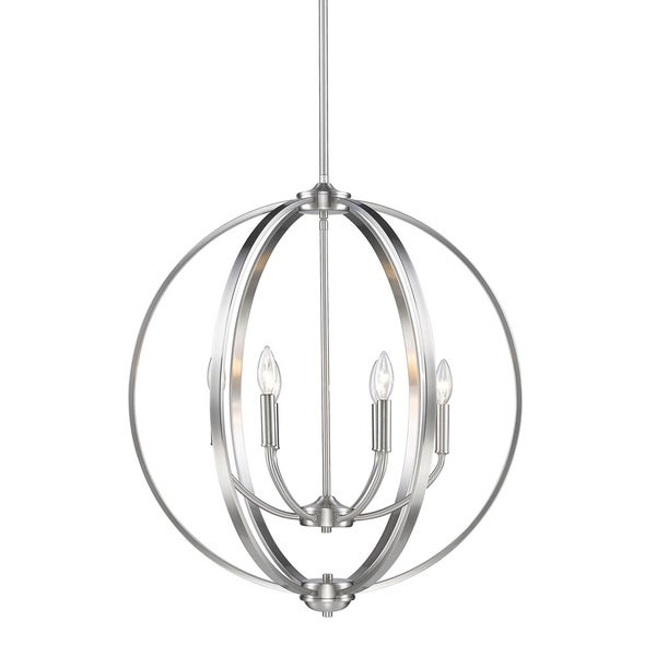 Golden Lighting Colson Pewter 6-light Chandelier