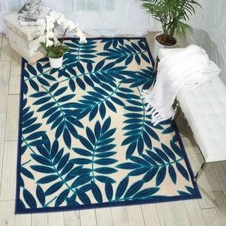 Nourison Aloha Navy Indoor/Outdoor Rug (5'3 x 7'5)