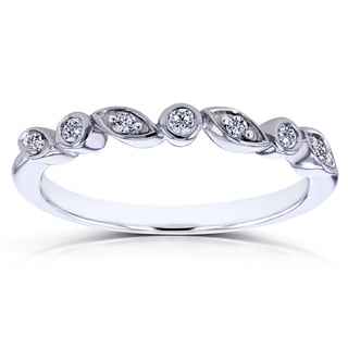 Annello by Kobelli 10k White Gold Stackable Diamond Ring (GH, I1-I2)