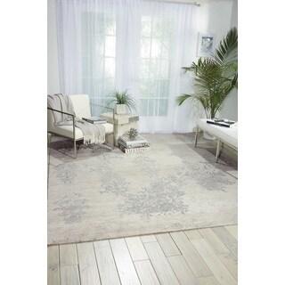 Nourison Silk Shadows Ivory/Silver Area Rug (5'6 x 7'5)