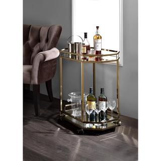 Link to Acme Furniture Lacole Champagne Serving Cart Similar Items in Kitchen Carts