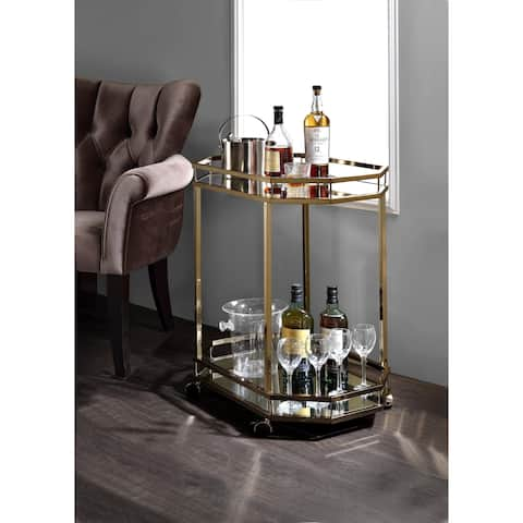 Acme Furniture Lacole Champagne Serving Cart