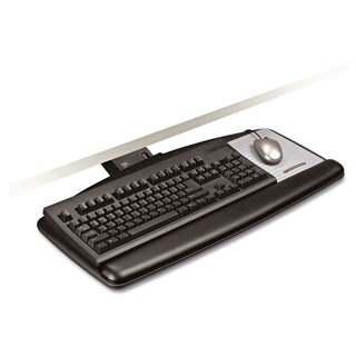 3M Sit/Stand Easy Adjust Keyboard Tray Standard Platform 25-1/2-inch wide x 12-inch deep Black