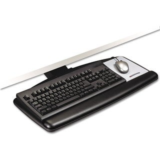 3M Easy Adjust Keyboard Tray Standard Platform 23 inches Track Black