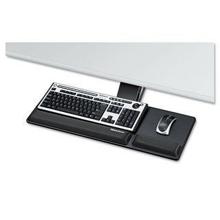 Fellowes Designer Suites Compact Keyboard Tray 19-inch wide x 9-1/2-inch deep Black